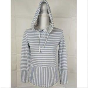 J. Crew Size XXS Sweater Hooded pockets striped